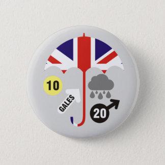 イギリスの天気予報 5.7CM 丸型バッジ