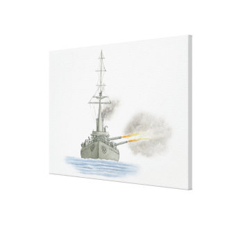 イギリスの巡洋戦艦 キャンバスプリント