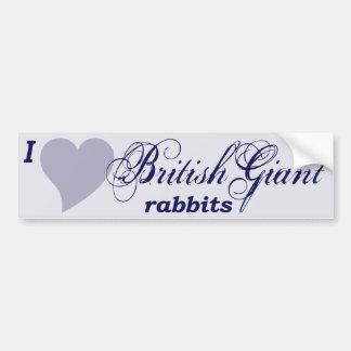 イギリスの巨大なウサギ バンパーステッカー