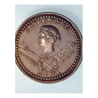 イギリスの捕獲をの記念するメダル ポストカード