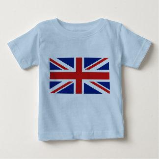 イギリスの旗および地図 ベビーTシャツ