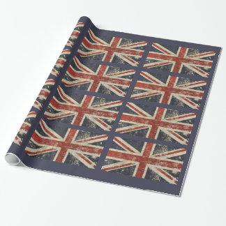 イギリスの旗が付いている包装紙 ラッピングペーパー