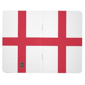 イギリスの旗が付いている愛国心が強いジャーナル ポケットジャーナル
