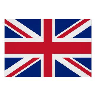イギリスの旗が付いている愛国心が強いポスター ポスター