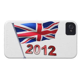 イギリスの旗との2012年 Case-Mate iPhone 4 ケース