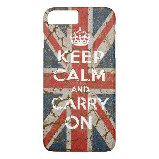 イギリスの旗とのKeep Calm and Carry On iPhone 8 Plus/7 Plusケース
