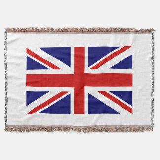 イギリスの旗によって編まれる投球毛布 の英国国旗 スローブランケット