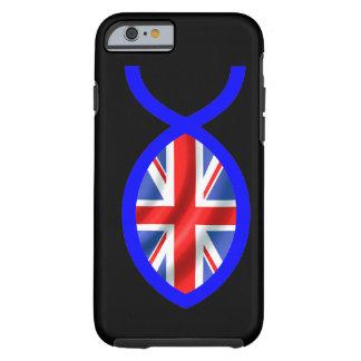 イギリスの旗のキリスト教の魚の記号 ケース