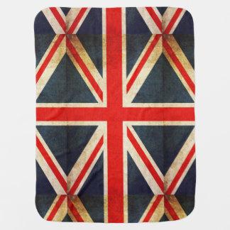 イギリスの旗のグランジな英国国旗のベビーブランケット ベビー ブランケット
