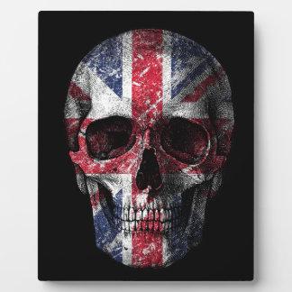 イギリスの旗のスカル フォトプラーク
