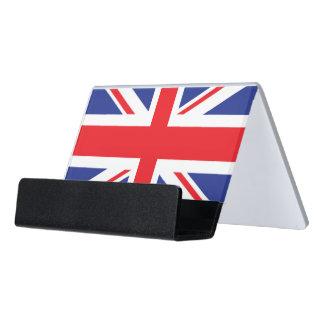 イギリスの旗の図解入りの、写真付きのな版 デスク名刺ホルダー