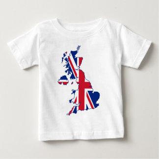 イギリスの旗の地図 ベビーTシャツ