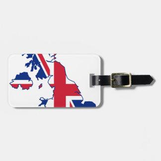 イギリスの旗の地図 ラゲッジタグ