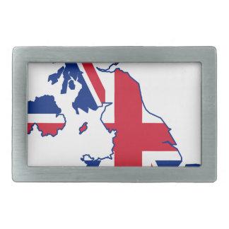 イギリスの旗の地図 長方形ベルトバックル