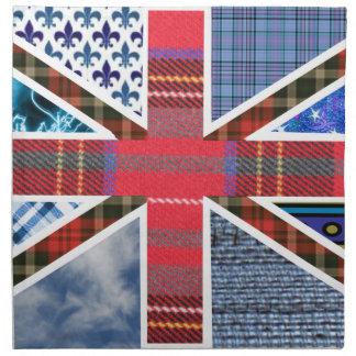 イギリスの旗の英国国旗の生地のパッチワークパターン ナプキンクロス