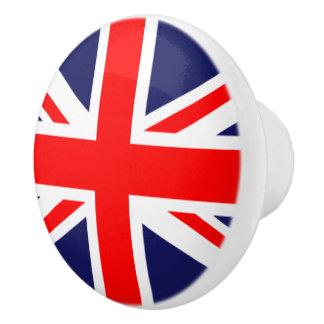 イギリスの旗の陶磁器のキャビネットのノブ セラミックノブ