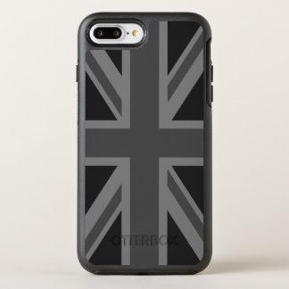 イギリスの旗の黒の灰色 オッターボックスシンメトリーiPhone 8 PLUS/7 PLUSケース