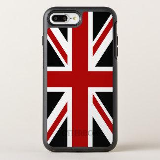 イギリスの旗の黒の赤い白 オッターボックスシンメトリーiPhone 8 PLUS/7 PLUSケース