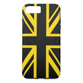 イギリスの旗の黒の黄色 iPhone 8 PLUS/7 PLUSケース