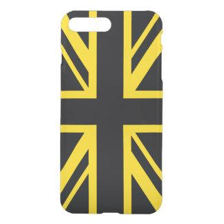 イギリスの旗の黒の黄色 iPhone 8 PLUS/7 PLUS ケース