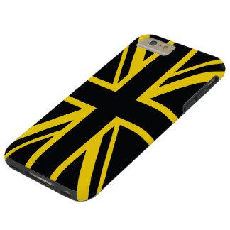 イギリスの旗の黒の黄色 TOUGH iPhone 6 PLUS ケース