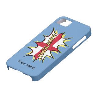 イギリスの旗のKapowの喜劇的なスタイルの星 iPhone SE/5/5s ケース
