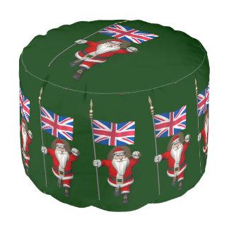 イギリスの旗を持つサンタクロース プーフ