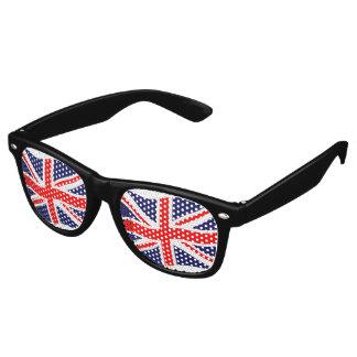 イギリスの旗 + あなたのアイディア レトロサングラス