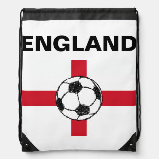 イギリスの旗|のフットボールの球 ナップサック