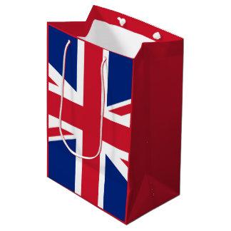 イギリスの旗 ミディアムペーパーバッグ