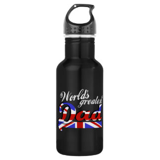 イギリスの旗-暗闇を持つ世界ですばらしいパパ ウォーターボトル