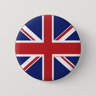 イギリスの旗 5.7CM 丸型バッジ