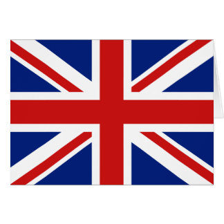 イギリスの旗Notecard カード