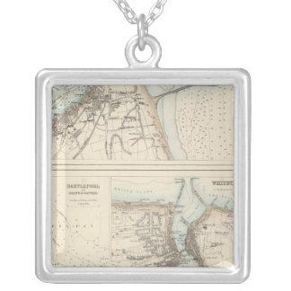 イギリスの東海岸の港そして港 シルバープレートネックレス