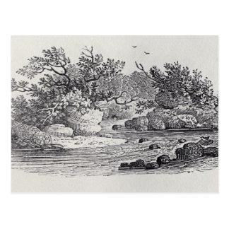 「イギリスの歴史からの川のくねり ポストカード