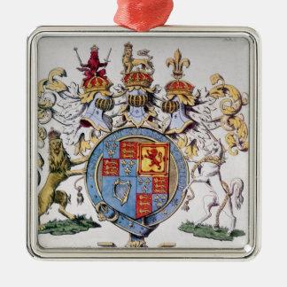 イギリスの王のジェームスI紋章付き外衣 メタルオーナメント