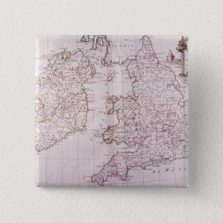 イギリスの王国 5.1CM 正方形バッジ