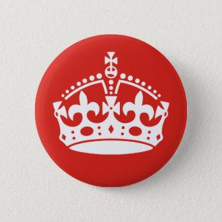 イギリスの王室のな王冠 5.7CM 丸型バッジ