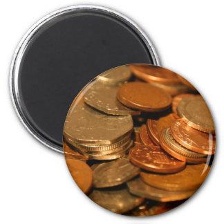 イギリスの硬貨のお金 マグネット
