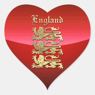 イギリスの紋章付き外衣 ハートシール