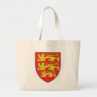 イギリスの紋章付き外衣 ラージトートバッグ