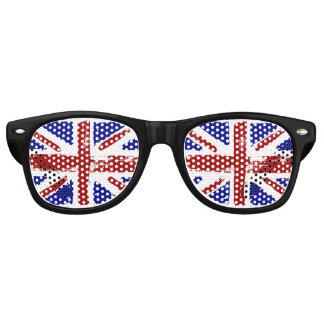 イギリスの色彩の鮮やかな旗 レトロサングラス