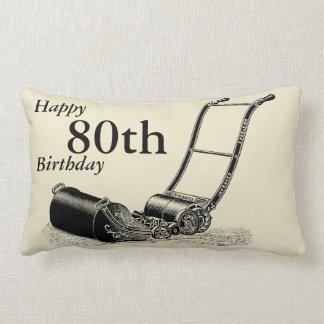 イギリスの芝刈機のカスタムの第80誕生日の枕 ランバークッション