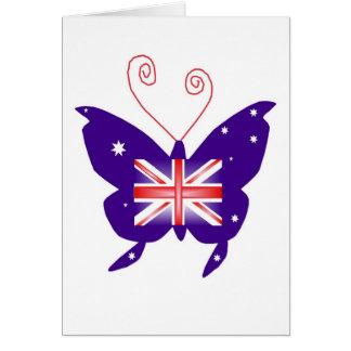 イギリスの花型女性歌手の蝶 カード