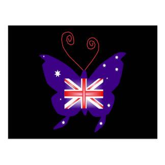 イギリスの花型女性歌手の蝶 葉書き