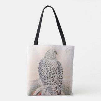 イギリスの若く暗いグリーンランドの《鳥》ハヤブサの鳥 トートバッグ