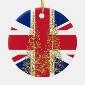 イギリスの英国のイギリスの旗のクリスマスのオーナメント セラミックオーナメント