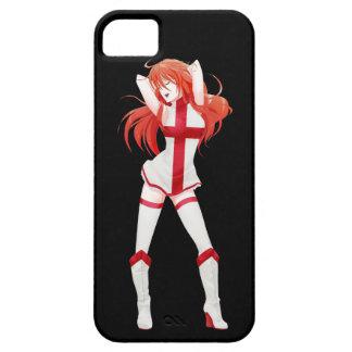 イギリスの英国のマンガの旗の女の子 iPhone SE/5/5s ケース