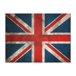 イギリスの英国国旗の壁のキャンバス キャンバスプリント