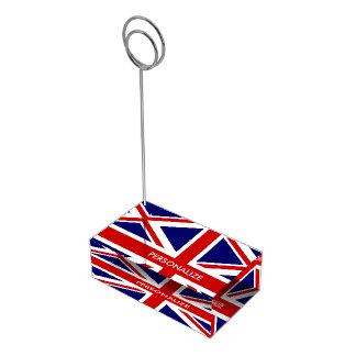 イギリスの英国国旗の旗のテーブルの座席表帯出登録者 テーブルカードホルダー
